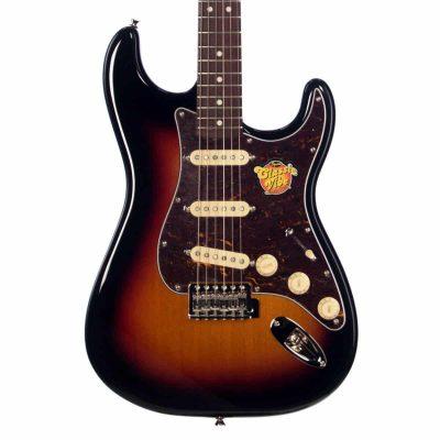fender squier classic vibe s stratocaster  strat sunburst electric guitar  frontbodyvert