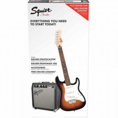 Fender Squier Affinity Stratocaster SS Pack G BSB Kit Chitarra elettrica Brown Sunburst con amplificatore e accessori