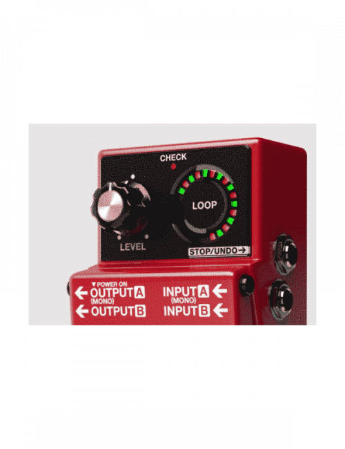 boss rc loop station pedale singolo effetto looper rc con minuti stereo di registrazione per chitarra