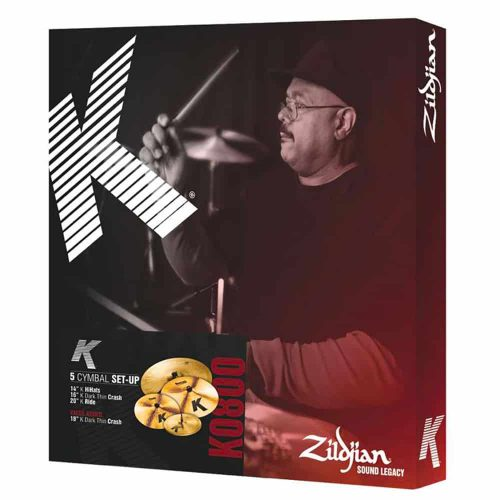 Zildjian K Cartone 5 (K0800): ride + hi-hat + 2 crash
