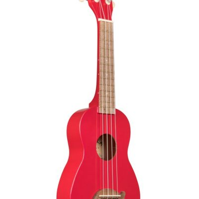 KALA - Ukulele Soprano Dolphin - Candy Apple Red - C/borsa