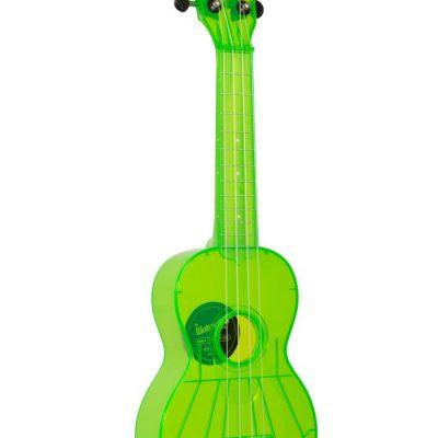 Kala KA-SWF-GN - Ukulele soprano Waterman - Fluorescent Sour Apple Green - c/borsa