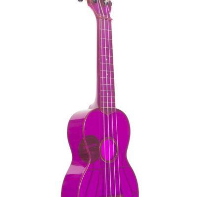 Kala KA-SWF-PL - Ukulele soprano Waterman - Fluorescent Purple Grape - c/borsa