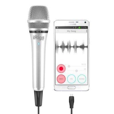 IK Multimedia iRig MIC HD-A - Microfono palmare per sistemi Android e PC