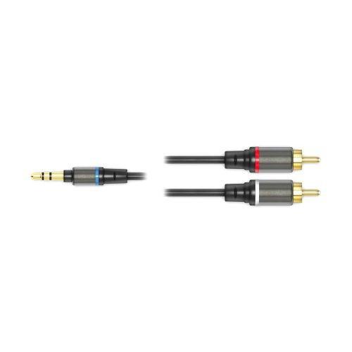 IK Multimedia iLine RCA - cavo jack stereo maschio da 1/8''/due RCA mono maschio