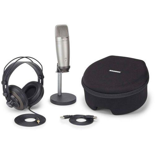 Samson C01U Pro Podcasting Pack - Pack con microfono USB a condensatore e accessori