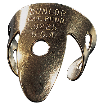 Dunlop 37R BRASS FINGER .015 - TUBO 20 PLETTRI