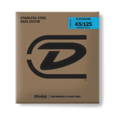 Dunlop DBFS45125M Corde basso Flatwound Scala media Set/5