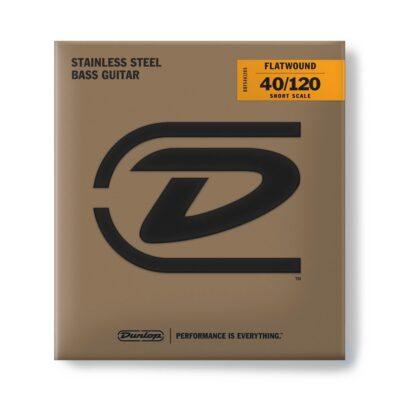 Dunlop DBFS40120S Corde basso Flatwound Light Scala corta Set/5