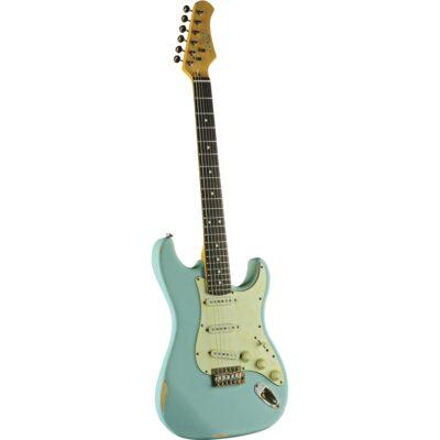 Eko Guitars S-300 Relic Daphne Blue