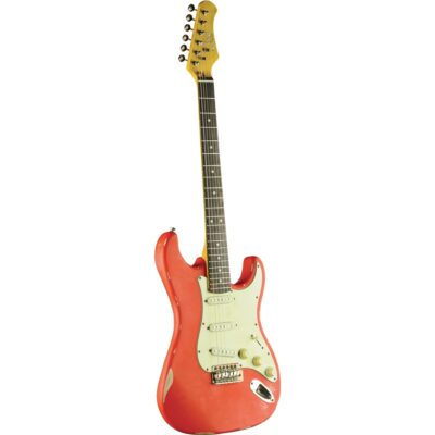 Eko Guitars S-300 Relic Fiesta Red