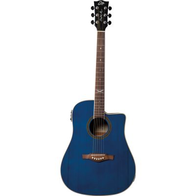 Eko NXT D100ce Through Blue Chitarra Acustica