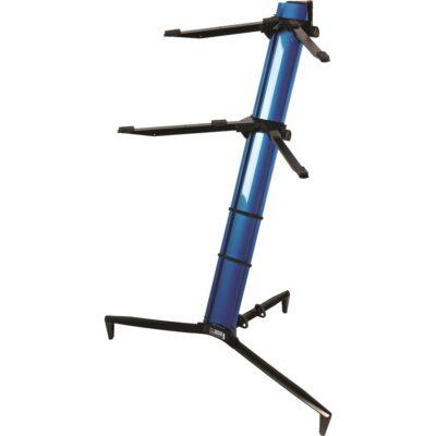 Quik Lok SL/913ALU BL supporto blu metallizzato per due tastiere