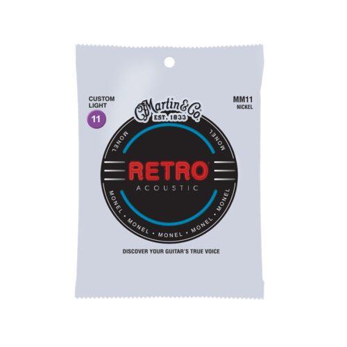 Martin & Co. MM11 Retro Acoustic Custom Light Monel Wound 11-52