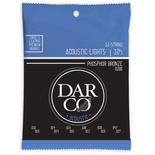 Darco D200 Darco Acoustic Light 12-Strings Phosphor Bronze 10-47