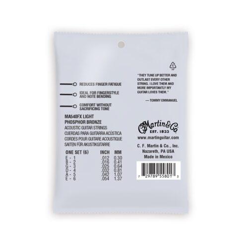 Martin & Co. MA540FX Authentic Flexible Core Light - Tommy's Choice Phosphor Bronze 12-54