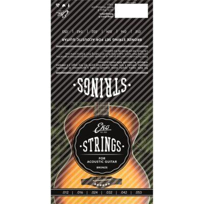 Eko Guitars Corde Chitarra Acustica Bronze 12-53 Medium Set/6