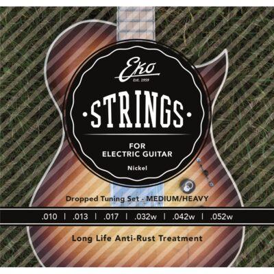 Eko Guitars Corde Chitarra Elettrica 10-52 Light Top Heavy Bottom Set/6