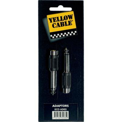 Yellow Cable AD03 Adattatore Jack Mono Maschio/RCA Femmina 2 Pcs