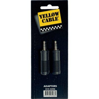 Yellow Cable AD06 Adattatore Mini Jack TRS Maschio/Jack TRS Femmina 2 Pcs