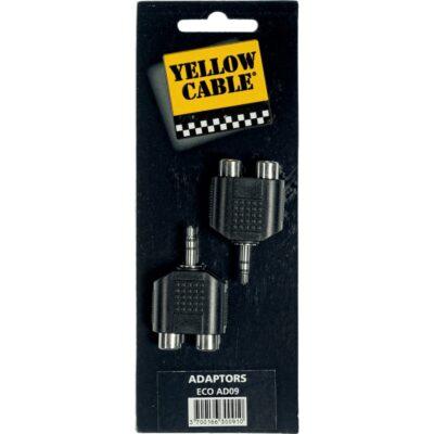 Yellow Cable AD09 Adattatore Mini Jack TRS Maschio/2x RCA Femmina 2 Pcs