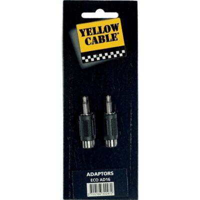 Yellow Cable AD16 Adattatore RCA Femmina/Mini Jack Mono Maschio 2 Pcs
