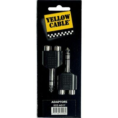 Yellow Cable AD17 Adattatore Jack TRS Maschio/2x RCA Femmina 2 Pcs