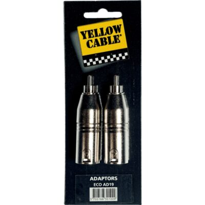 Yellow Cable AD19 Adattatore RCA Maschio/XLR Maschio 2 Pcs