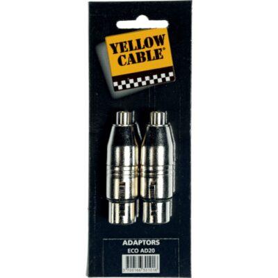 Yellow Cable AD20 Adattatore RCA Femmina/XLR Femmina 2 Pcs