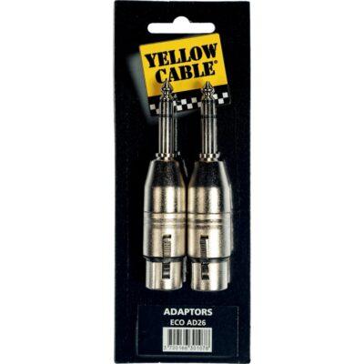 Yellow Cable AD26 Adattatore Jack TRS Maschio/XLR Femmina 2 Pcs