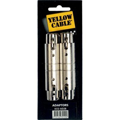 Yellow Cable AD28 Adattatore XLR/XLR Femmina 2 Pcs