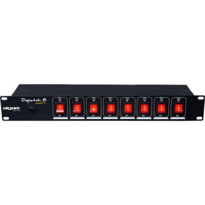 Algam Lighting DISPATCH-8 Multipresa 8 Posti da Rack Interruttori Individuali