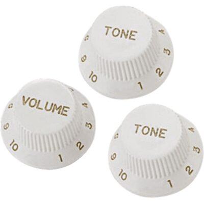 Yellow Parts EZ1215W Manopole di regolazione Stratocaster® Style Bianche 3 Pcs