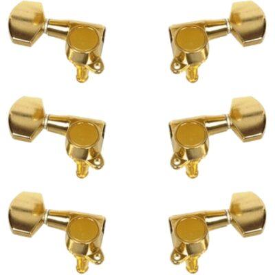 Yellow Parts EZ17101G Meccaniche Chitarra Acustica 3+3 Dorate 6 Pcs