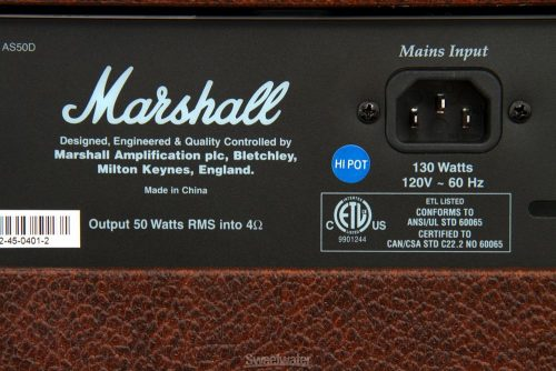 "Marshall AS50D Combo per Acustica 50 Watt 2x8"""