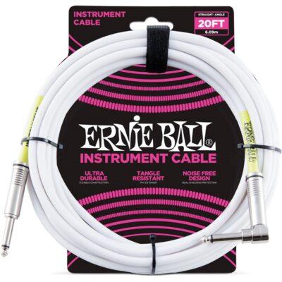 Ernie Ball 6047 Cavo PVC White 6 m