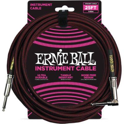 Ernie Ball 6062 Cavo Braided Black/Red 7
