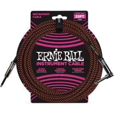 Ernie Ball 6064 Cavo Braided Black/Orange 7