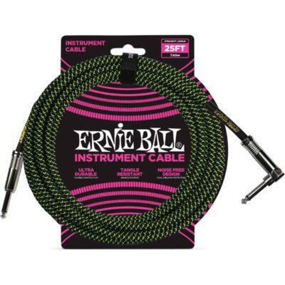 Ernie Ball 6066 Cavo Braided Black/Green 7