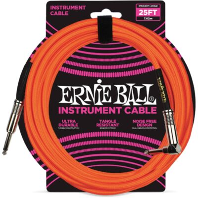 Ernie Ball 6067 Cavo Braided Neon Orange 7