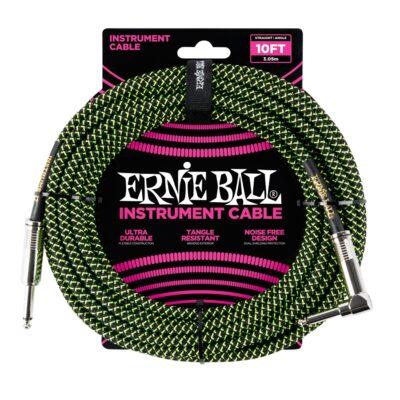 Ernie Ball 6077 Cavo Braided Black/Green 3