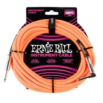 Ernie Ball 6084 Cavo Braided Neon Orange 5
