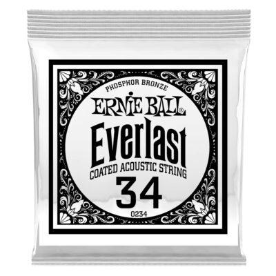 Ernie Ball 0234 Everlast Coated Phosphor Bronze .034