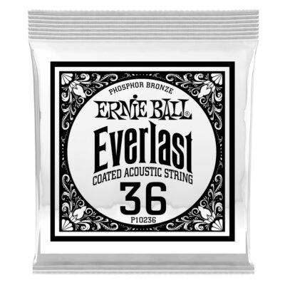 Ernie Ball 0236 Everlast Coated Phosphor Bronze .036