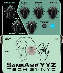 Tech21 Geddy Lee Signature SansAmp YYZ - preamplificatore a pedale per basso