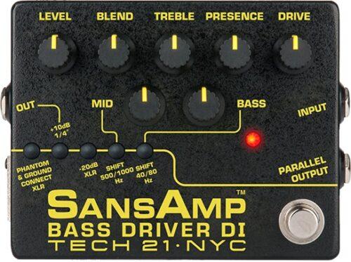 Tech21 SansAmp Bass Driver DI (v2) - preamplificatore a pedale per basso