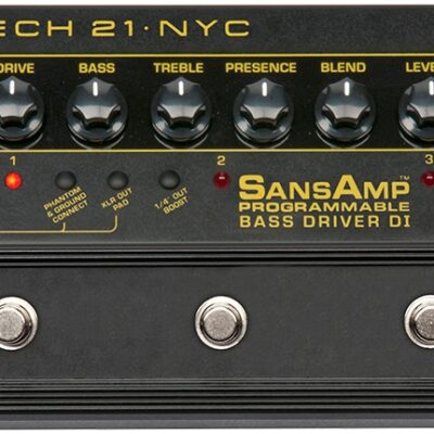 Tech21 SansAmp Programmable Bass Driver DI - preamplificatore a pedale per basso