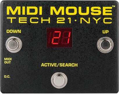 Tech21 MIDI Mouse - controller MIDI a pedale