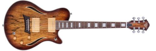 Michael Kelly HYBRID SPECIAL - Chitarra ibrida elettrica/acustica - Spalted burst