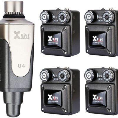 Xvive U4R4 IN-EAR MONITOR Sistema monitor wireless digitale a 4 ricevitori